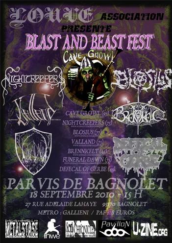 Blast and Beast fest @ Bagnolet